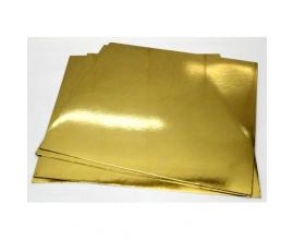 Подложка квадратная  золото-серебро, 25*25 см