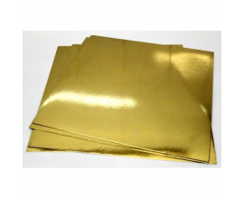 Подложка квадратная  золото-серебро, 45*45 см