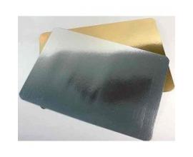 Подложка прямоугольная  золото-серебро, 25*35 см
