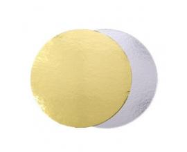 Подложка круглая золото-серебро  Диаметр: 16см