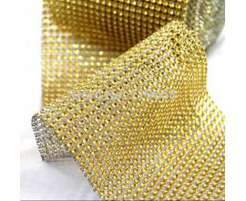 стразы золото, 1 метр