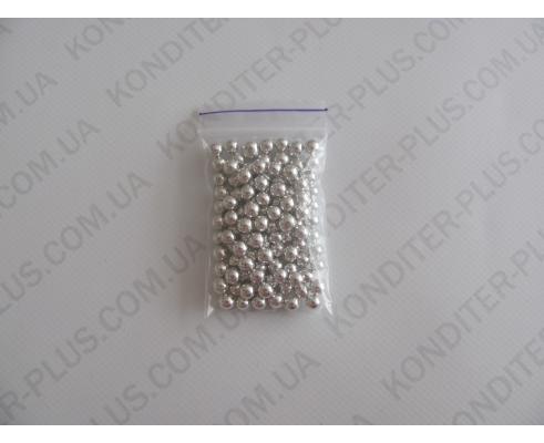 шарики серебряные, 5 мм, 20 грамм