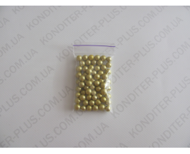 шарики золотые, 8 мм, 20 грамм