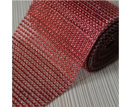 стразы, h -12 см,  красные, 1 метр