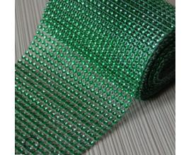 стразы, h -12 см,  зеленые, 1 метр