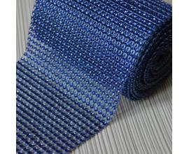 стразы, h -12 см,  синие, 1 метр