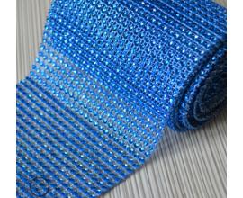 стразы, h -12 см,  голубые, 1 метр