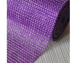 стразы, h -12 см,  фиолетовые, 1 метр