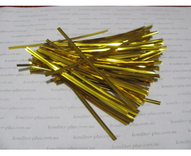 фольгированные завязки Золото, 100 шт