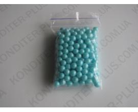 шарики голубой жемчуг, 5-7 мм, 50 грамм