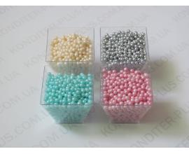 шарики голубые, 3,5 мм, 50 грамм