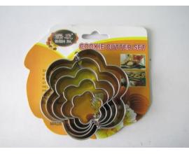 набор вырубок цветок-металл, 5 шт