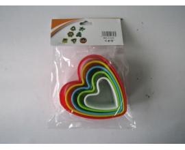 набор сердце разноцветное, 5 шт