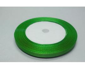 лента атласная светло-зеленая, 0,9 см