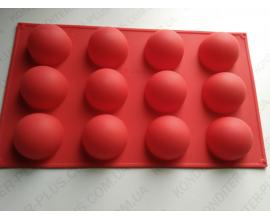 силиконовая форма сфера d-4,5 см