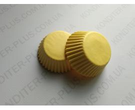 капсулы для кейкпопсов желтые, 4*2 см, 50 шт