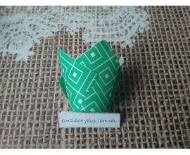 тюльпан бирюзовая геометрия, 50*80 мм, 10 шт