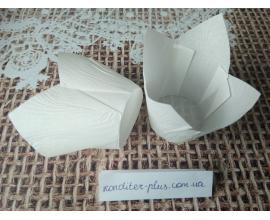 тюльпан белый, 50*80 мм, 10 шт