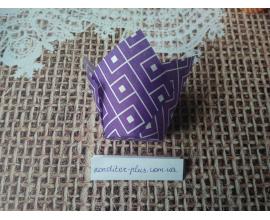 тюльпан фиолетовая геометрия, 50*80 мм, 10 шт