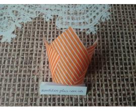 тюльпан оранжевая полоска, 50*80 мм, 10 шт