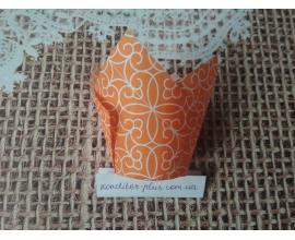 тюльпан оранжевые вензеля, 50*80 мм, 10 шт