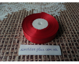 атласная лента красная , 2 см
