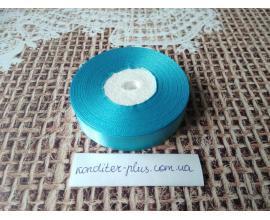 атласная лента голубая , 2 см