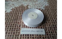 атласная лента белая , 2 см