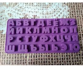 силиконовый планшет алфавит, высота 1,8 см