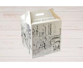 коробка для торта 30*30*30 см (принт)