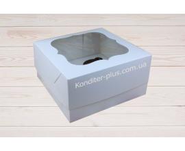 коробка на 4 кекса (молочная)