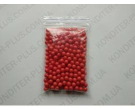 шарики красный жемчуг, 5-7 мм, 50 грамм
