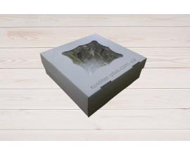коробка для торта 26*26*9 см с окном