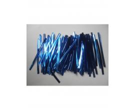 фольгированные завязки синие, 100 шт, 8 см
