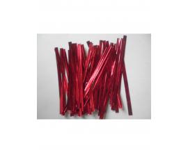 фольгированные завязки красные, 100 шт, 8 см