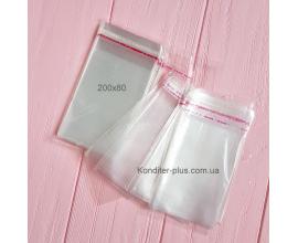 пакетики с клейкой лентой, 100 шт, 200*80 СМ