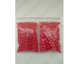 шарики красные 6 мм, 50 грамм