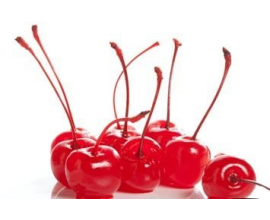 коктейльная вишня красная с черешком, без косточки