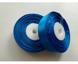 атласная лента синяя, 2 см
