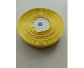 атласная лента светло-желтая, 1,2 см