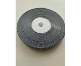 атласная лента серая, 0,9 см