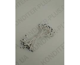 тычинки белые с черным острым кончиком, 50 шт