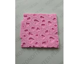 розовый оттиск сердца, 10.5*10.5 см
