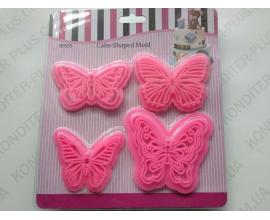 оттиск 4 бабочки
