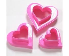 набор сердце (от 4,3 до 10 см)