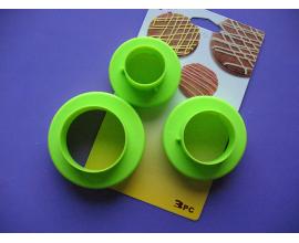 набор вырубок круг (от 3,5 до 8.5 см)