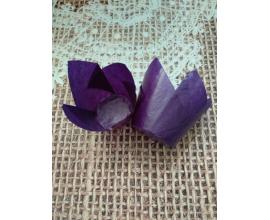 формочка тюльпан темно-фиолетовая, 10 шт
