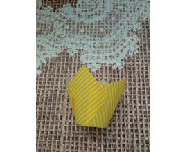 формочка тюльпан желтая полоска, 10 шт