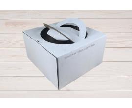 коробка для торта  с ручками 26*26*15 см