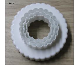 набор вырубок рифленый круг, 6 шт